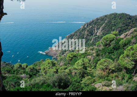 Wanderung zum Kloster San Fruttuoso, Portofino - Stock Photo