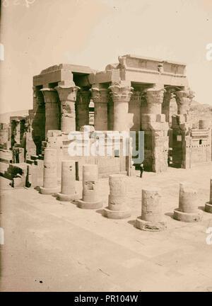 Egyptian views; Kom-Ombo. Temple of Sobk and Horoeris. 1900, Egypt - Stock Photo