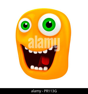3d funny cartoon face - Stock Photo