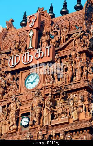 Nallur Kandaswamy temple in Jaffna, Sri Lanka - Stock Photo