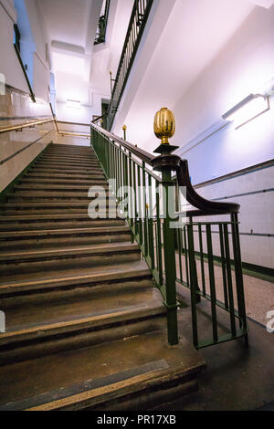 The Merchants House of Glasgow Scotland Staircase - Stock Photo