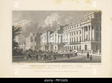 Regent's Park, Cumberland Terrace, Regent's Park, Metropolitan improvements: or, London in the nineteenth century, - Stock Photo