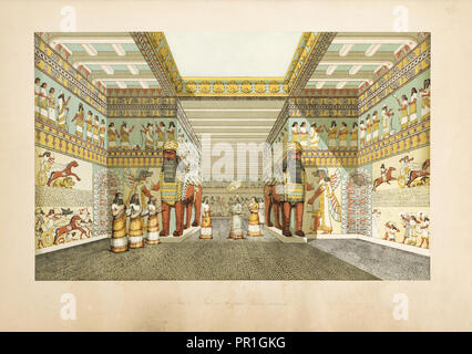 The monuments of Nineveh: from drawings made on the spott: first series, Layard, Austen Henry, Sir, 1817-1894, 1849 - Stock Photo
