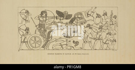 Eunuch warrior in battle, Nineveh and its remains, with an account of a visit to the Chaldaean Christians of Kurdistan - Stock Photo