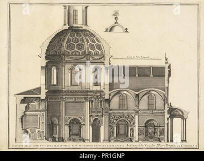 Spaccato della Chiesa di Santa Maria della Pace de Canonici Regolari Lateranensi, Stvdio d'architettvra civile sopra - Stock Photo