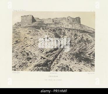 Chaubak, Voyage d'exploration à la mer Morte, à Petra, et sur la rive gauche du Jourdain, Albert, Honoré Paul Joseph d', duc de - Stock Photo