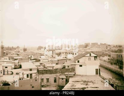 Damascus from Hotel Dimitri American Colony, Jerusalem. 1898, Syria, Damascus - Stock Photo