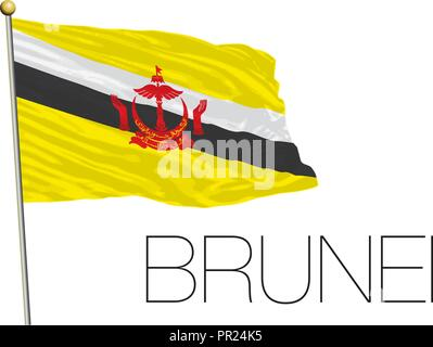 Brunei flag, vector illustration - Stock Photo
