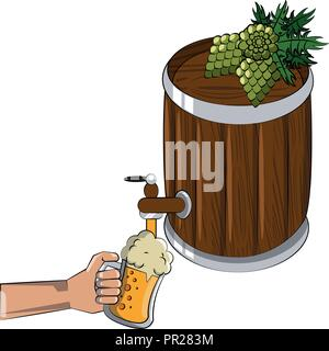 Beer brewery elements - Stock Photo