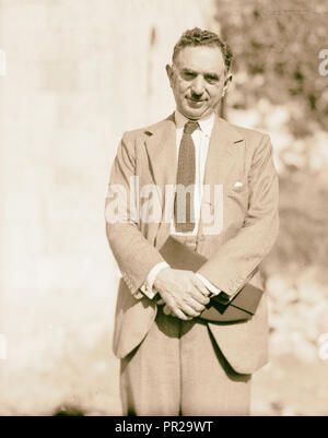 Palestine disturbances 1936. Nuri Pasha Es-Said, Foreign Minister of Iraq, arbitrator for the Palestine cause. 1936 - Stock Photo