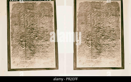 Maps, plans, restorations, Warning Gentiles against intrusion into Temple. 1900, Middle East - Stock Photo