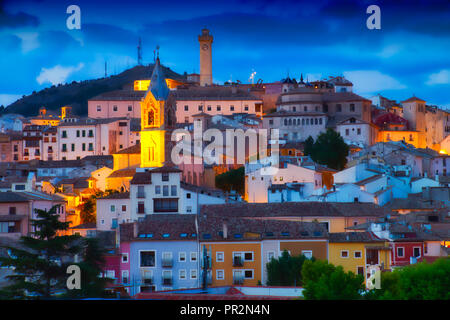 Sunset in Cuenca, Spain - Stock Photo