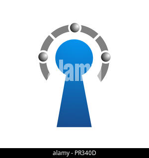 Key abstract logo template vector - Stock Photo