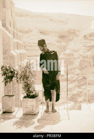 Mar Saba. Old monk in convent. 1934, West Bank - Stock Photo