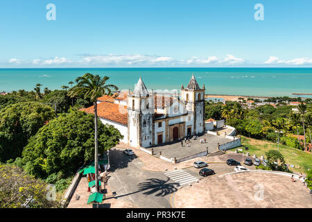 Founded in 1537, Olinda is one of the oldest cities in Brazil. The Cathedral Alto da Se is the main church of the city - Stock Photo