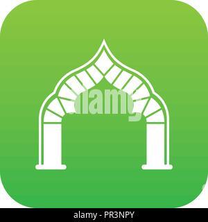 Arch icon green vector - Stock Photo