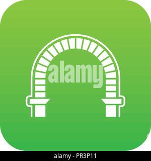 Arch column icon green vector - Stock Photo