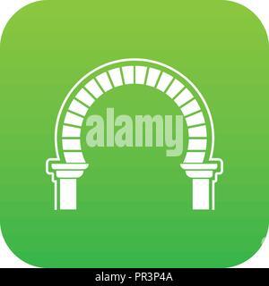 Curve arch icon green vector - Stock Photo
