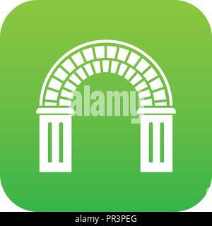 Window arch icon green vector - Stock Photo