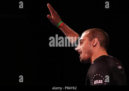 Westbury, New York, USA. 27th Sep, 2018. JASON RAU fights against MANSHER KEHRA during the 5th RISE Invitational grappling event at the Space in Westbury, New York. Credit: Anna Sergeeva/ZUMA Wire/Alamy Live News - Stock Photo