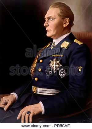 Hermann Goering, (1893-1946), German politician and military leader and leading member of the Nazi Party. 1934 painting by Franz Kienmayer. - Stock Photo