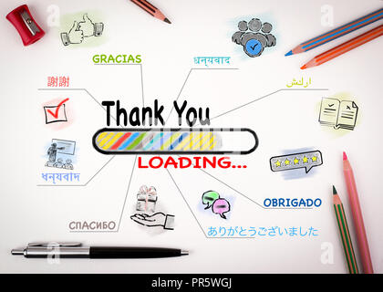 Thank You in Most Spoken Languages In The World - Stock Photo