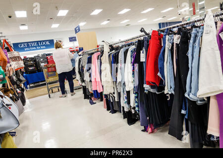 Miami Florida Kendall The Palms at Town & Country Mall Marshalls discount department store inside shopping women's clothing aisle display sale - Stock Photo
