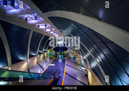 Inside of Heumarkt Subway station in Cologne Koeln - Stock Photo