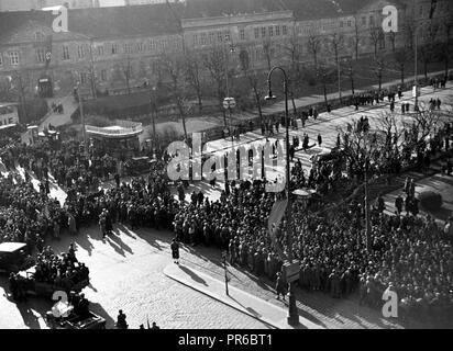 Anschluss Österreich 1938 an das Dritte Reich / Connection Austria 1938 to the Third Reich - Stock Photo