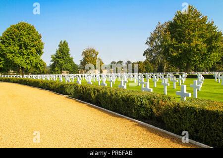 Cambridge American Cemetery near Madingley in Cambridge, England - Stock Photo