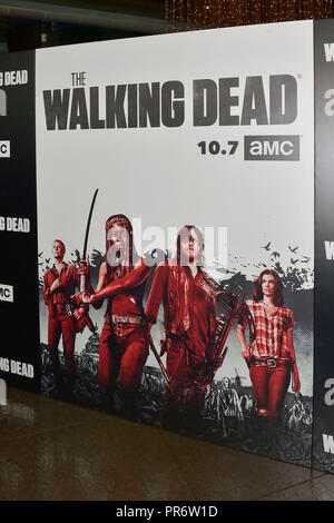AMC's 'The Walking Dead' Season 9 premiere at DGA Theater on September 27, 2018 in Los Angeles, California. - Stock Photo