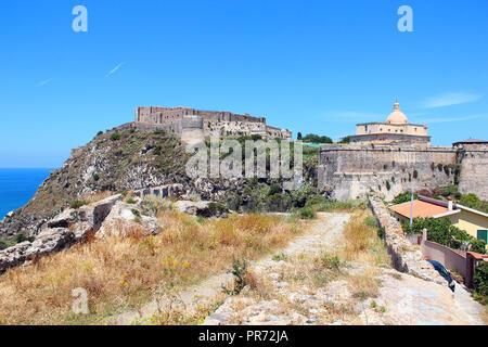 Milazzo Castle (Castello di Milazzo), Sicily, Italy - Stock Photo