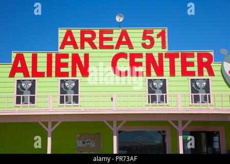 Area 51 Alien Travel Center, Amargosa Valley, Nevada - Stock Photo