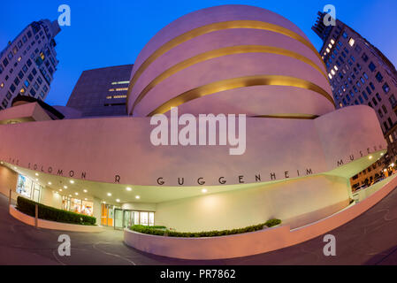 The Solomon R. Guggenheim Museum of modern and contemporary art at Fifth Avenue in Manhattan New York City USA