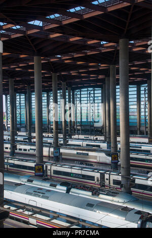 Platforms and high speed trains puerta de atocha railway station stock photo 93829460 alamy - Puerta de atocha ave ...