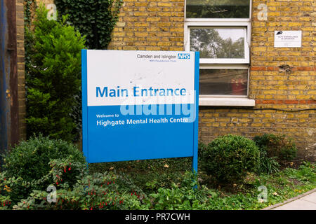 Highgate Mental Health Centre, part of the Camden and Islington NHS Foundation Trust. - Stock Photo