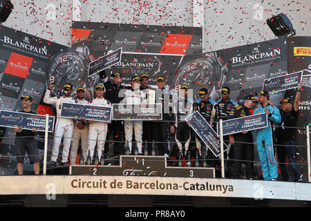 Barcelona, Spain. 30th Sep, 2018. during Round 10 - Blancpain GT Series Endurance Cup at Circuit de Barcelona-Catalunya, Barcelona, Spain on 30 September 2018. Photo by Jurek Biegus.  Editorial use only, license required for commercial use. Credit: UK Sports Pics Ltd/Alamy Live News - Stock Photo