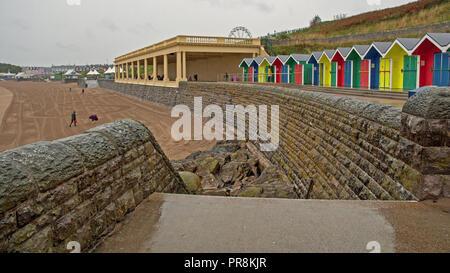 Barry Island in the rain. September 2018 - Stock Photo