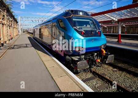 Class 68 diesel engine number 68030 in nearly new condition at Crewe railway station - Stock Photo