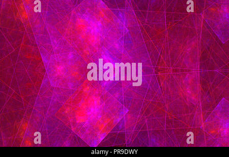 Pink purple glowing pattern. Fantasy fractal texture. Digital art. 3D rendering. Computer generated image - Stock Photo