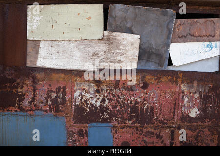 old rusty metal wall texture background z c - Stock Photo