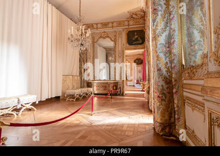 Versailles, France - March 14, 2018: Corridor inside of the Royal Palace of Versailles in France - Stock Photo