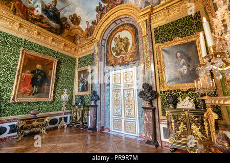 Versailles, France - March 14, 2018: Room at the Royal Palace of Versailles in France - Stock Photo