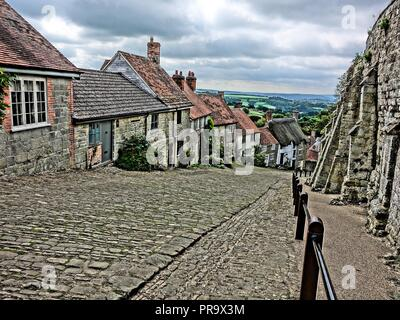 Gold Hill, Shaftesbury - Stock Photo