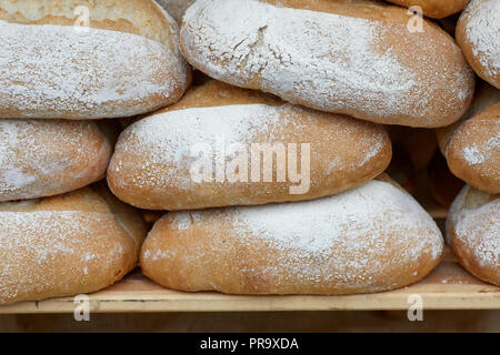 Manchester Sourdough loaf of bread - Stock Photo