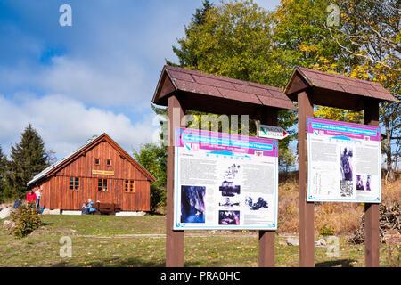 Důl Mauritius - prohlídková štola Kryštof (narodni kulturni pamatka) Hřebečná, Abertamy, Krusne hory, Ceska republika / Mauritius mine - Krystof (nati - Stock Photo
