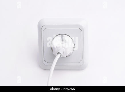 plug into an electrical outlet.isolated on a white background. - Stock Photo