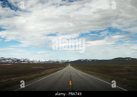 Scenic views on a road trip to the Nordkapp, Norway - Stock Photo