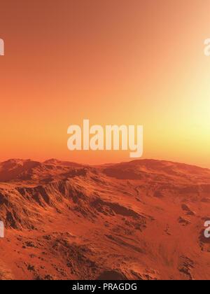 Mars Landscape Illustration - Stock Photo