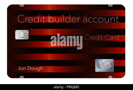 Here is a credit card that will help you rebuild your credit rating. This is a credit builder account credit account. It is a secured card and offers  - Stock Photo